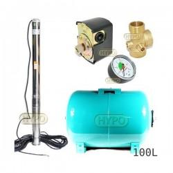 Zestaw pompa 3,5SC3/19 400V OMNIGENA zbiornik 100L poziomy 3,5SC3-19