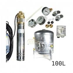 Zestaw pompa 4SKM100 230V IBO zbiornik ocynkowany HYDRO-VACUUM 100L pionowy