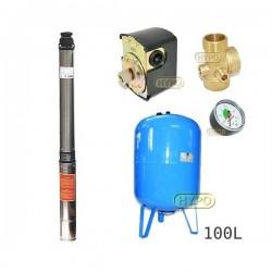 Zestaw pompa 4SDm3-14 230V IBO zbiornik 100l pionowy