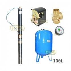 Zestaw pompa 3ti27 230V IBO zbiornik 100L pionowy