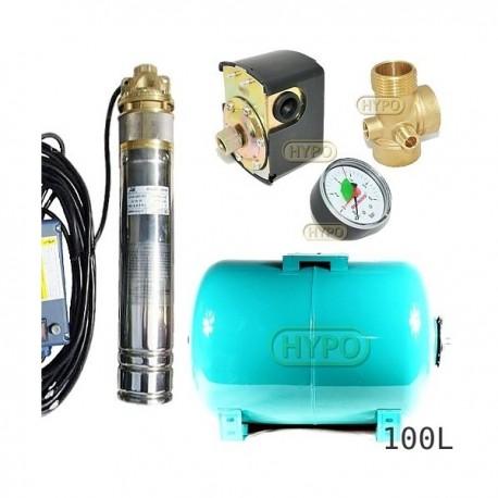 Zestaw pompa SKM100 230V OMNIGENA zbiornik 100L poziomy
