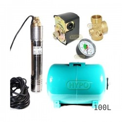 Zestaw pompa SKT200 400V OMNIGENA zbiornik 100L poziomy