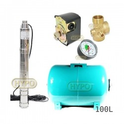 Zestaw pompa 3SQIBO 0,55 IBO 230V zbiornik 100L poziomy