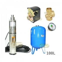 Zestaw pompa 3,5SCR1,8-50-0,5 230V IBO zbiornik 100L pionowy