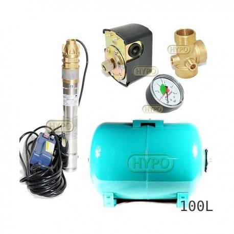 Zestaw pompa 3SKM100 OMNIGENA 230V zbiornik 100L poziomy