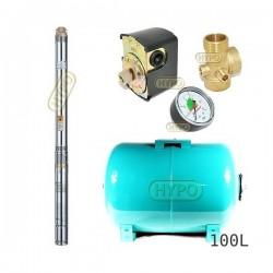 Zestaw pompa 3T23 400V OMNIGENA zbiornik 100L poziomy 3T-23