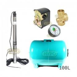 Zestaw pompa 3,5SCM2/14 230V IBO zbiornik 100L poziomy