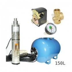 Zestaw pompa 3,5SCR1,8-50-0,5 230V IBO zbiornik 150L poziomy