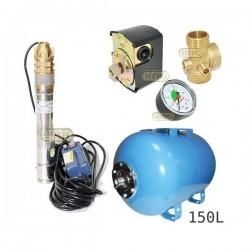 Zestaw pompa 3SKM100 230V IBO zbiornik 150L poziomy