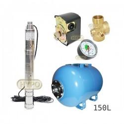 Zestaw pompa 3SQIBO0,55 IBO 230V zbiornik 150L poziomy