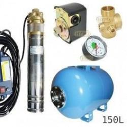 Zestaw pompa SKM100 230V OMNIGENA zbiornik AQUA-SYSTEM 150L poziomy