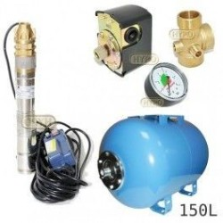Zestaw pompa 3SKM100 3' 230V OMNIGENA zbiornik AQUA-SYSTEM 150L poziomy