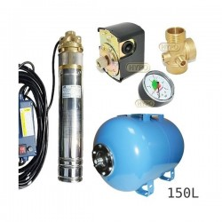 Zestaw pompa 4SKM100 IBO 230V zbiornik 150L poziomy