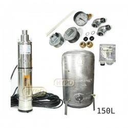 Zestaw pompa 3,5SCR1,8-50-0,5 230V IBO zbiornik ocynkowany HYDRO-VACUUM 150L pionowy