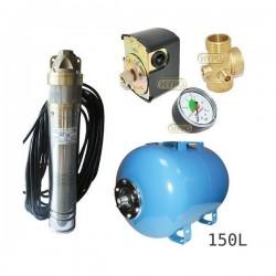 Zestaw pompa SKT150 400V OMNIGENA zbiornik AQUA-SYSTEM 150L poziomy