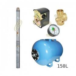 Zestaw pompa 3T23 230V OMNIGENA zbiornik AQUA-SYSTEM 150L poziomy 3T-23