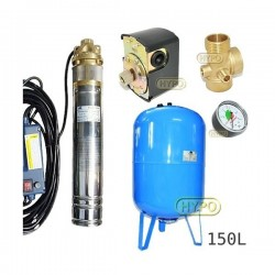 Zestaw pompa 4SKM150 230V IBO zbiornik 150L pionowy