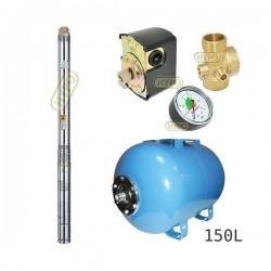 Zestaw pompa 3B24 230V OMNIGENA zbiornik AQUA-SYSTEM 150l poziomy 3B-24
