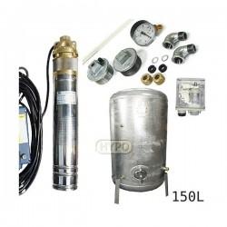Zestaw pompa 4SKM150 230V IBO zbiornik ocynkowany HYDRO-VACUUM 150L pionowy