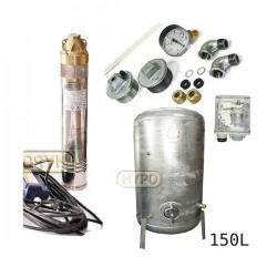 Zestaw pompa 4SKM200 230V IBO zbiornik ocynkowany HYDRO-VACUUM 150L pionowy