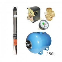 Zestaw pompa 4SDm6-12 230V IBO zbiornik 150L poziomy