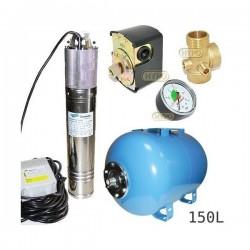 Zestaw pompa NKM-150 230V SUMOTO zbiornik AQUA-SYSTEM 150L poziomy