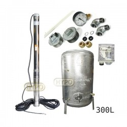 Zestaw pompa 3,5SC3/19 230V OMNIGENA zbiornik ocynkowany HYDRO-VACUUM 300L pionowy 3,5SC3-19