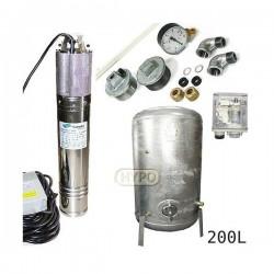 Zestaw pompa NKM-150 230V SUMOTO zbiornik ocynkowany HYDRO-VACUUM 200L pionowy