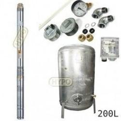Zestaw pompa 3T23 400V OMNIGENA zbiornik ocynkowany HYDRO-VACUUM 200L pionowy 3T-23