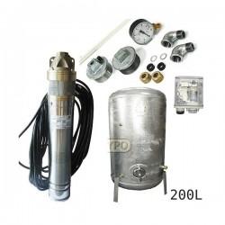 Zestaw pompa SKT150 400V OMNIGENA zbiornik ocynkowany HYDRO-VACUUM 200L pionowy