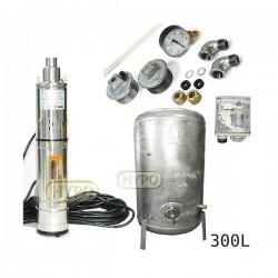 Zestaw pompa 3,5SCR1,8-50-0,5 230V IBO zbiornik ocynkowany HYDRO-VACUUM 300L pionowy