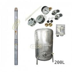 Zestaw pompa 3B24 400V OMNIGENA zbiornik ocynkowany HYDRO-VACUUM 200L pionowy 3B-24
