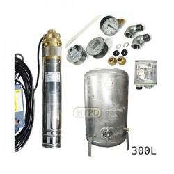 Zestaw pompa SKM100 230V OMNIGENA zbiornik ocynkowany HYDRO-VACUUM 300L pionowy