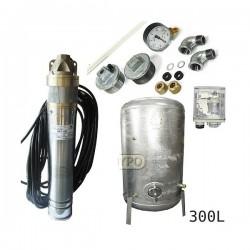 Zestaw pompa SKT100 400V OMNIGENA zbiornik ocynkowany HYDRO-VACUUM 300L pionowy