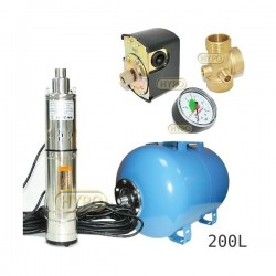 Zestaw pompa 3,5SCR1,8-50-0,5 230V IBO zbiornik 200L poziomy