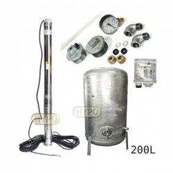 Zestaw pompa 3,5SC3/19 400V OMNIGENA zbiornik ocynkowany HYDRO-VACUUM 200L pionowy 3,5SC3-19