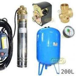 Zestaw pompa SKM100 230V OMNIGENA zbiornik AQUA-SYSTEM 200L pionowy