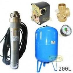 Zestaw pompa SKT100 400V OMNIGENA zbiornik AQUA-SYSTEM 200L pionowy