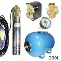 Zestaw pompa SKM100 230V OMNIGENA zbiornik AQUA-SYSTEM 200L poziomy