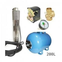 Zestaw pompa NKT-150 400V SUMOTO zbiornik AQUA-SYSTEM 200L poziomy