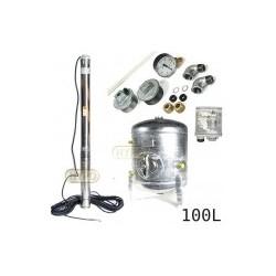 Zestaw pompa SQ3-55 zbiornik ocynkowany HYDRO-VACUUM 100L pionowy