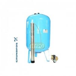Zestaw pompa SQ3-65 zbiornik ocynkowany HYDRO-VACUUM 100L pionowy