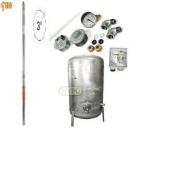 Zestaw pompa 3SDm24 230V IBO zbiornik ocynkowany HYDRO-VACUUM 100L pionowy