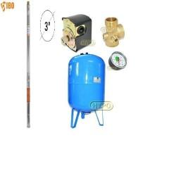 Zestaw pompa 3SDm24 230V IBO Dambat zbiornik AQUA-SYSTEM 150L pionowy
