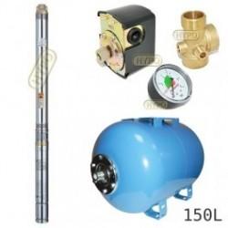 Zestaw pompa 3T23 400V OMNIGENA zbiornik AQUA-SYSTEM 150L poziomy 3T-23