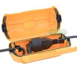Puszka hermetyczna do przewodu elektrycznego (żółta)
